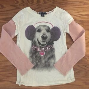 Gap Kids Girl/'s Grey Embellished Dalmatian Dog Sweatshirt Dress Size XS 4-5 NWT